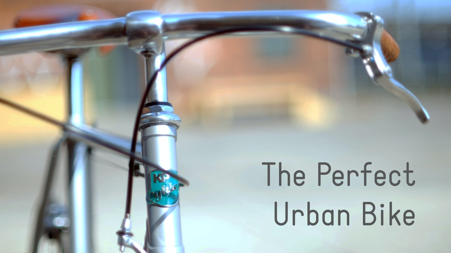 Over the past 2 years, we've designed The Perfect Urban Bike. Here it is - great to look at, fast, low-maintenance and personal.