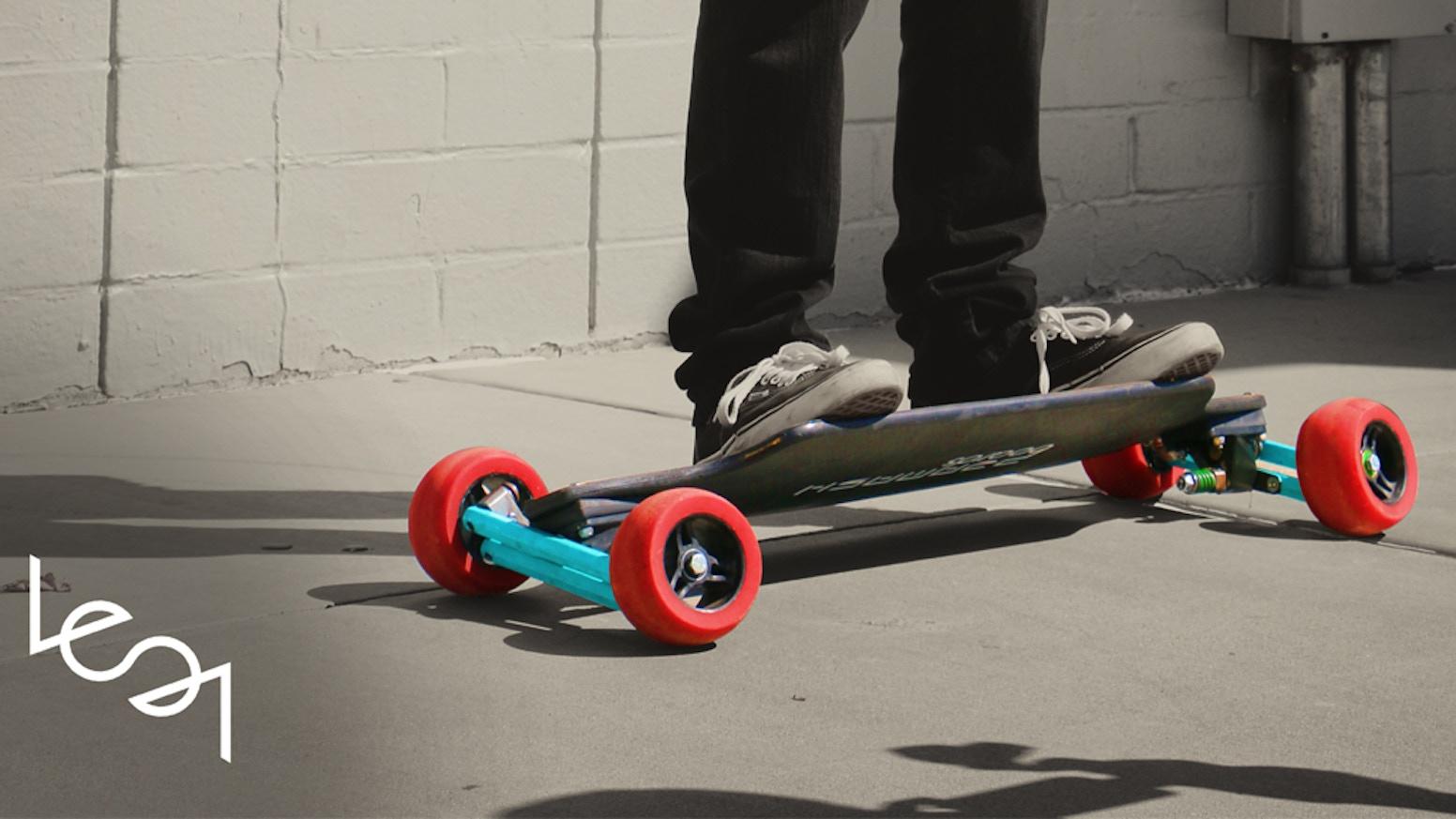 lean longboard skateboard by pramash boards inc. Black Bedroom Furniture Sets. Home Design Ideas