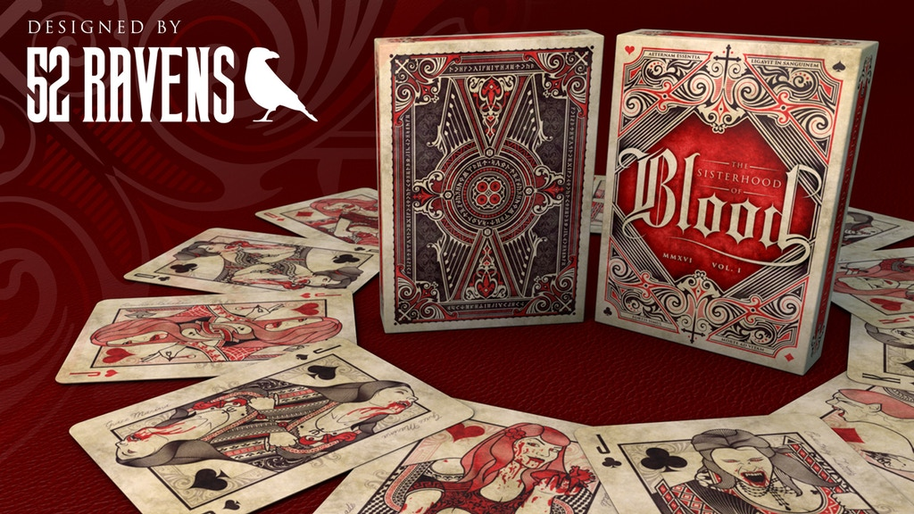 The Sisterhood of Blood - Playing Cards project video thumbnail