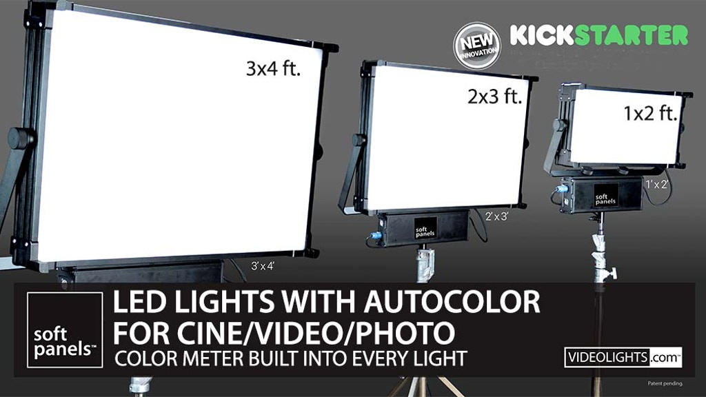 SoftPanels LED Lights with Intelligent/Precise Color Control project video thumbnail
