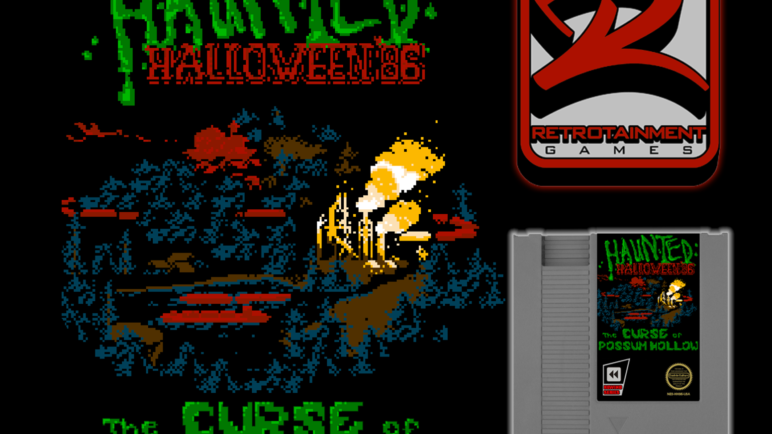 Haunted Halloween '86: The Curse Of Possum Hollow (NES Game) by