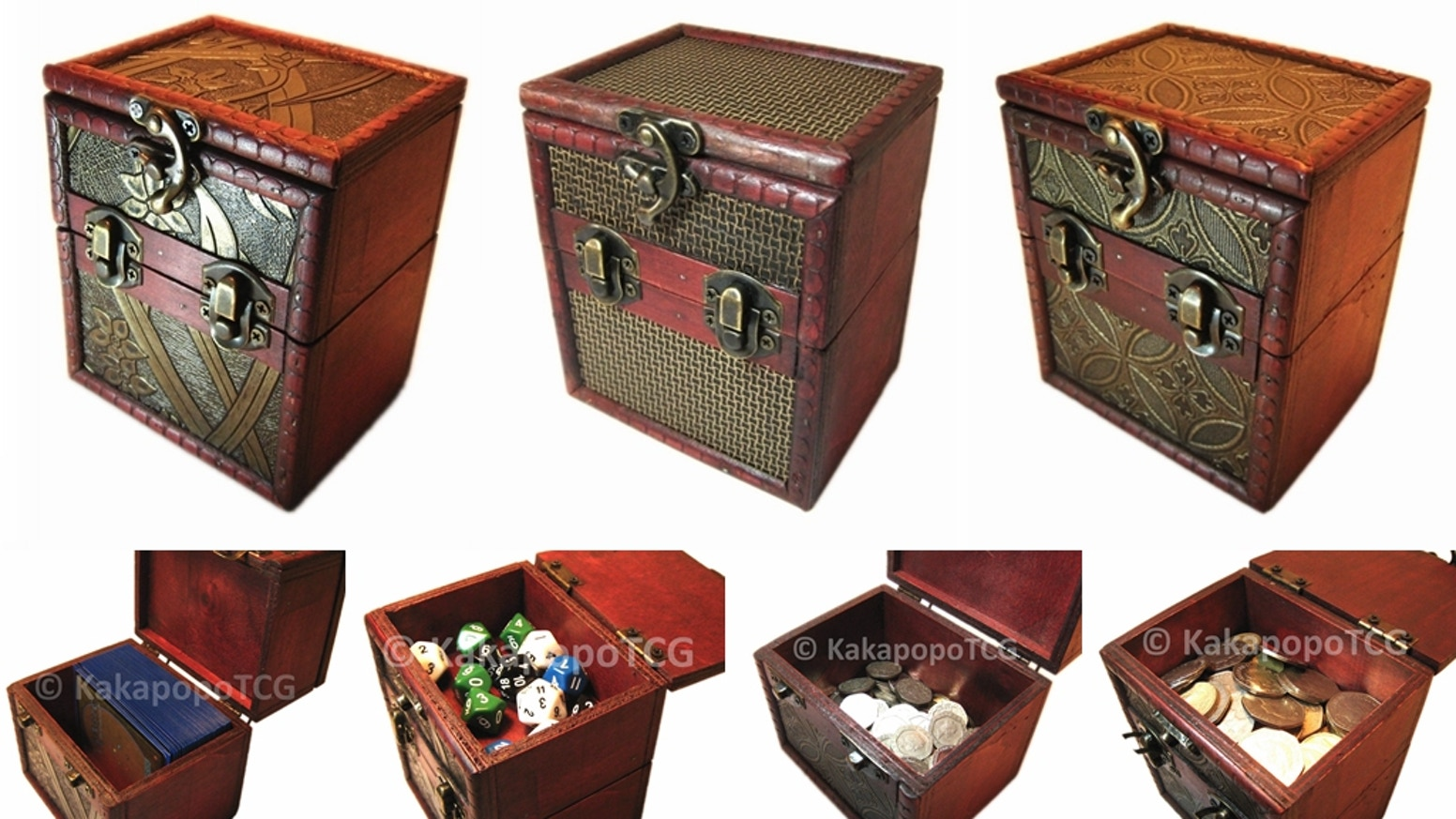 For storing Card Games: Mtg Magic the Gathering, EDH decks, Yugioh, Pokemon, Vanguard, Lord of the Rings, Star Wars, and Fantasy Coins