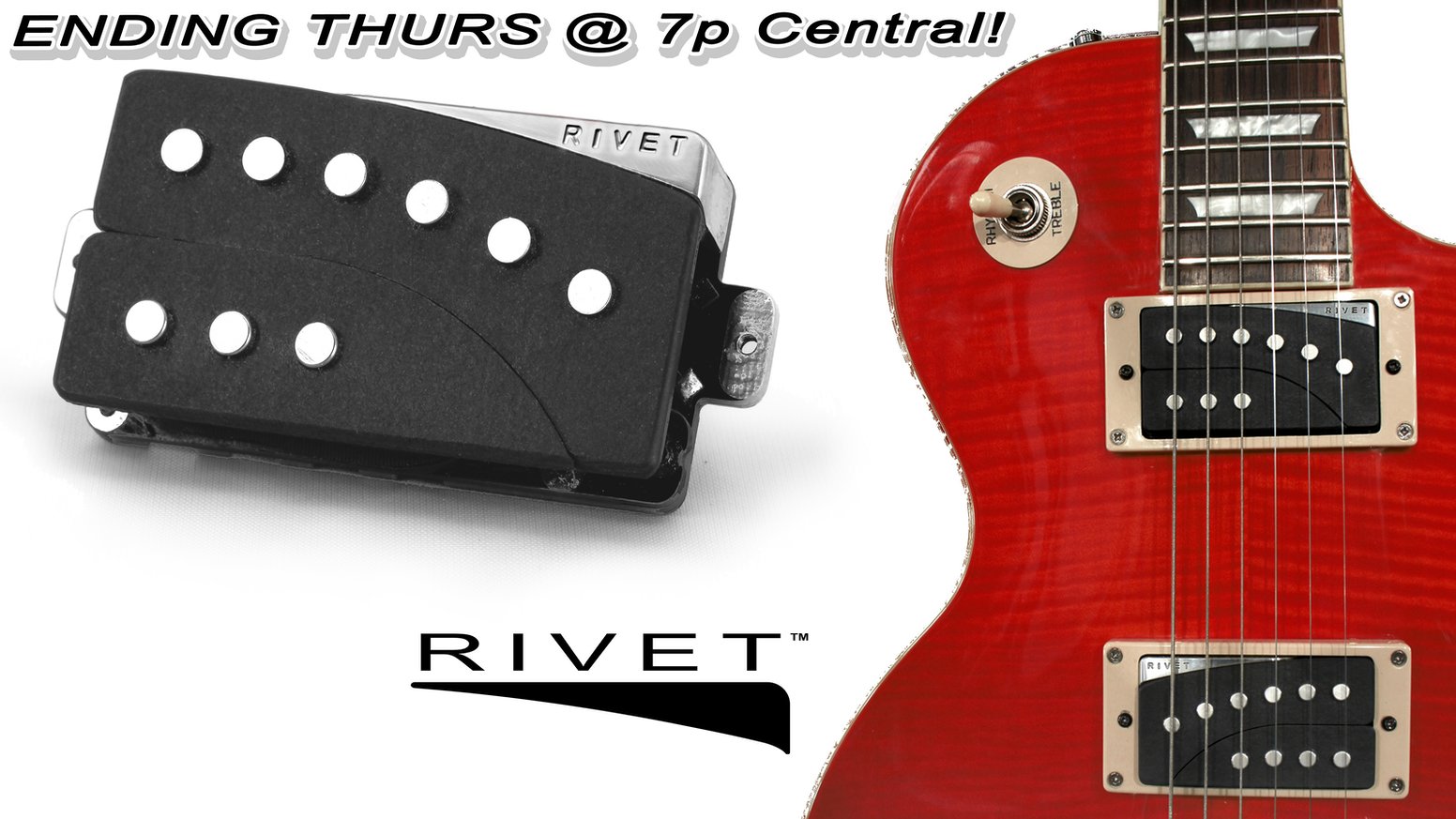 Rivet Electric Guitar Pickups Join The Evolution By Gtr Novo