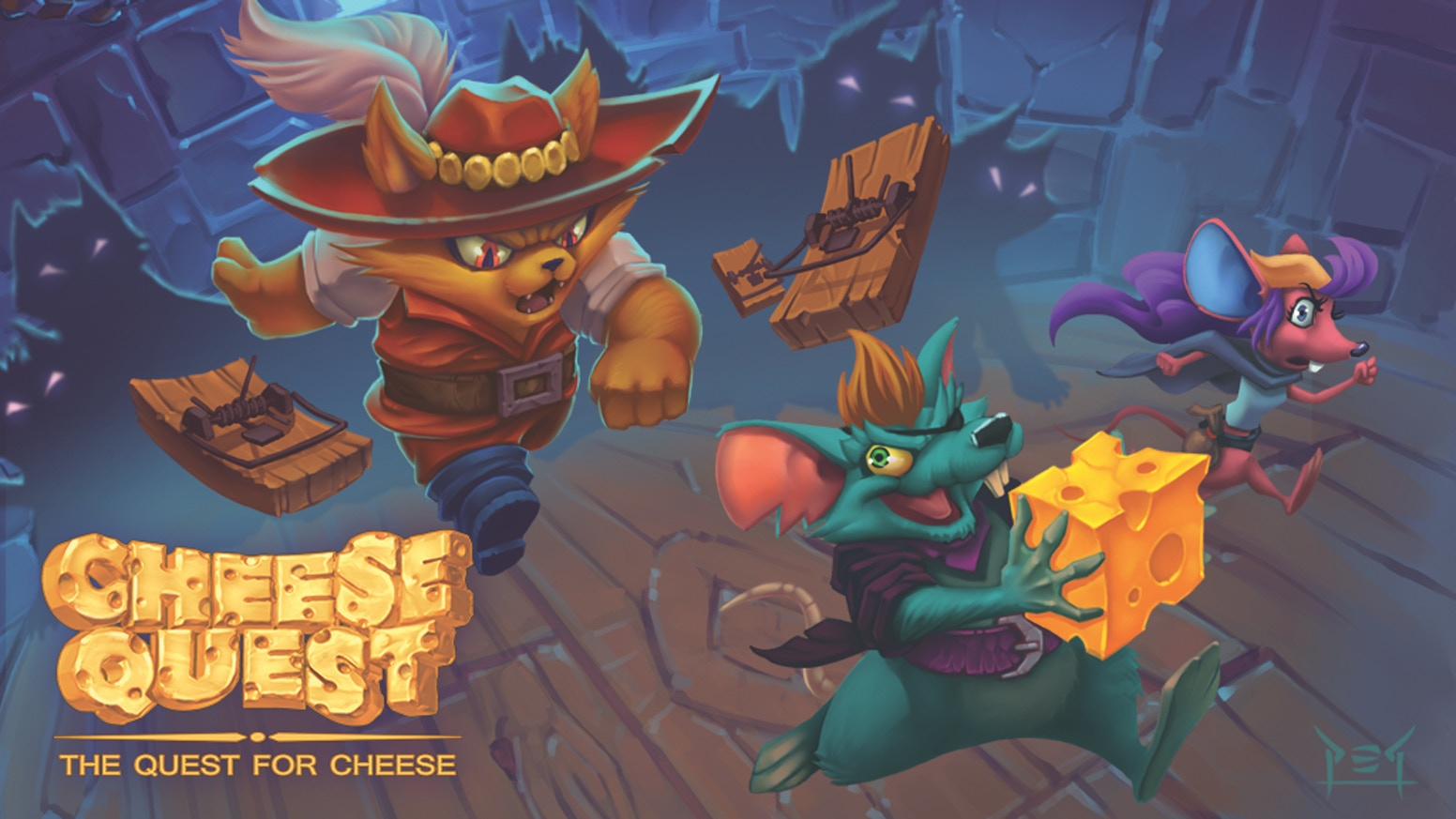 Be crafty, strategic, and fast! You'll split your time between progress and sabotage as you race to return TWO cheeses to the nest.