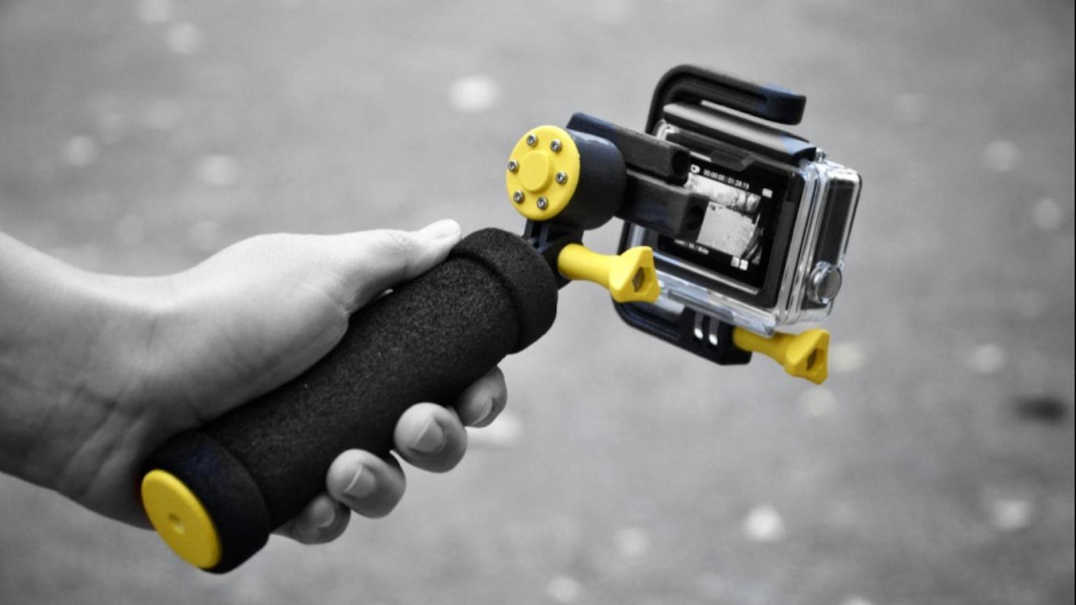 Make smooth videos with an innovative steadycam. Waterproof mechanical gimbal.