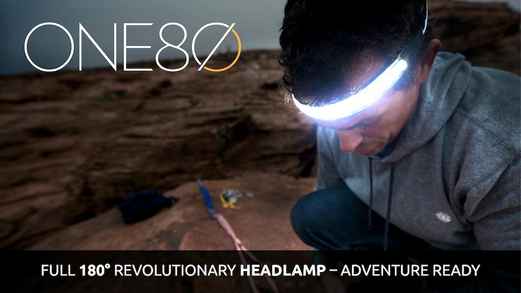 ONE80 Light -The Headlamp Reinvented. Full 180° illumination project video thumbnail