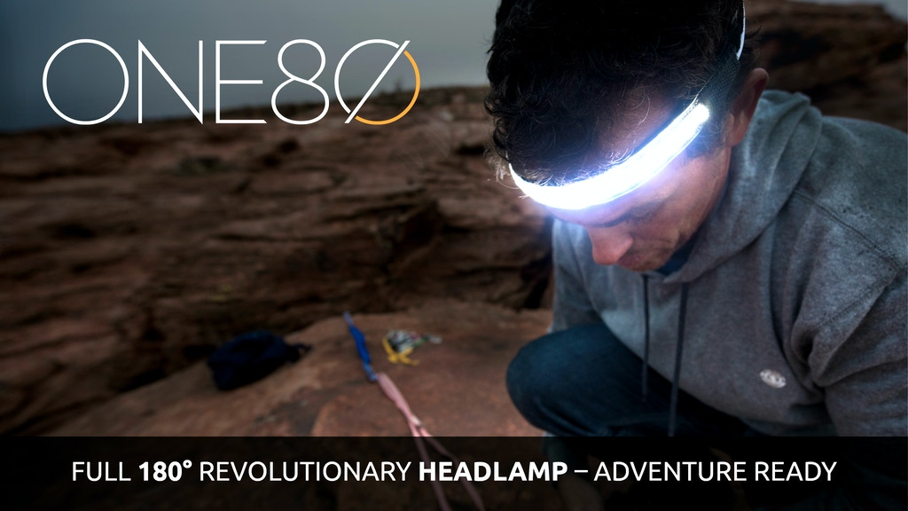 ONE80 Light -The Headlamp Reinvented. Full 180° illumination project video thumbnail