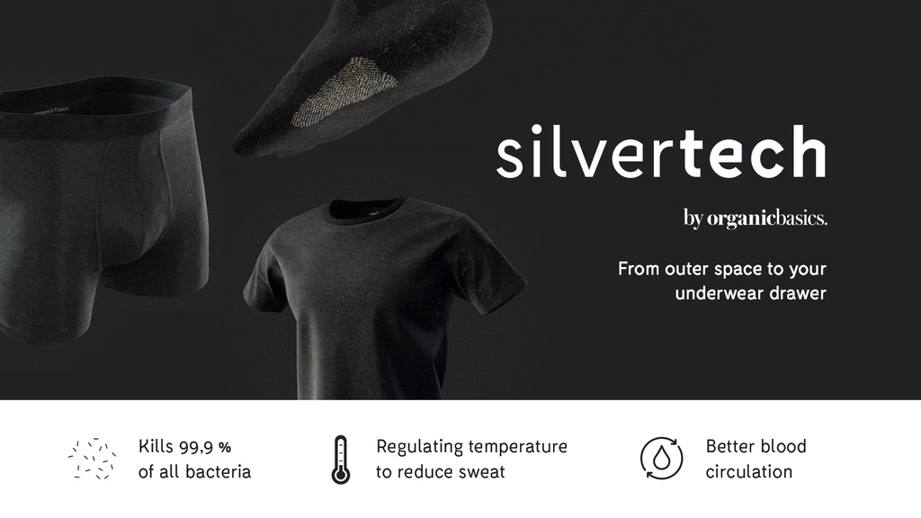 Silvertech Odorless Underwear Made With Pure Silver By Organic