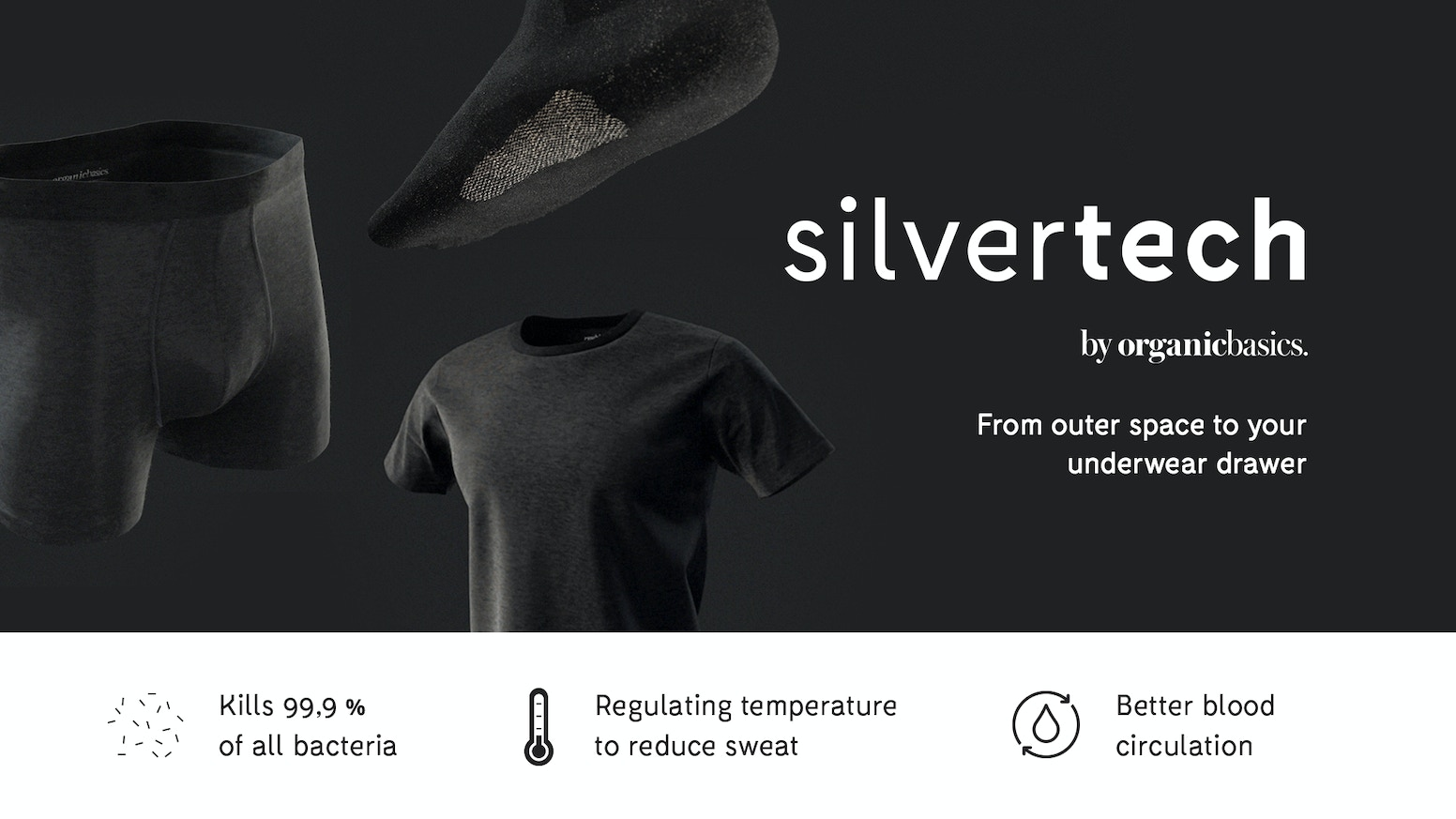 Silvertech Odorless Underwear Made With Pure Silver By