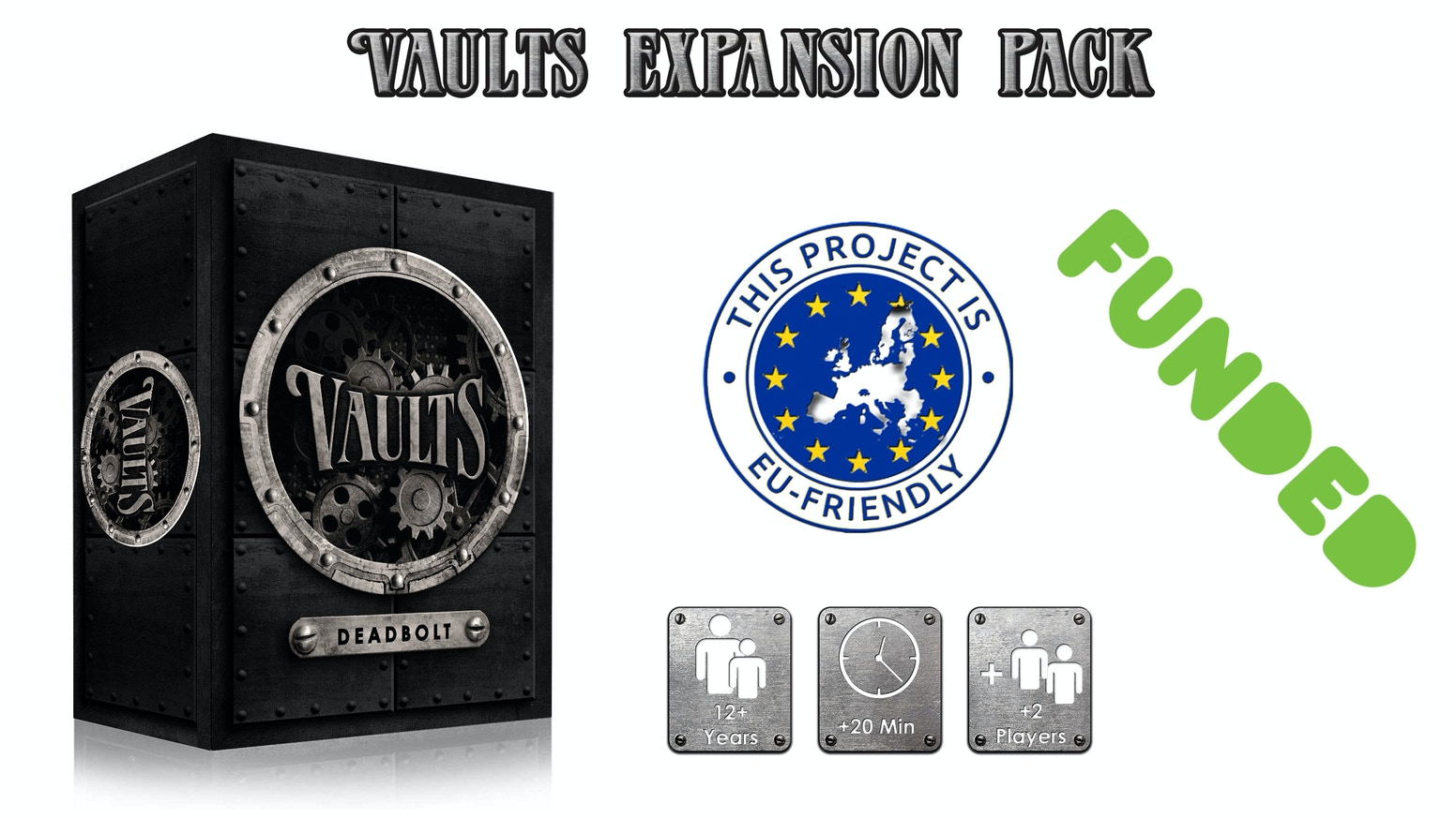 After the successful Kickstarter campaign for Vaults card game 4HOGS proudly present Deadbolt, an expansion pack for Vaults.