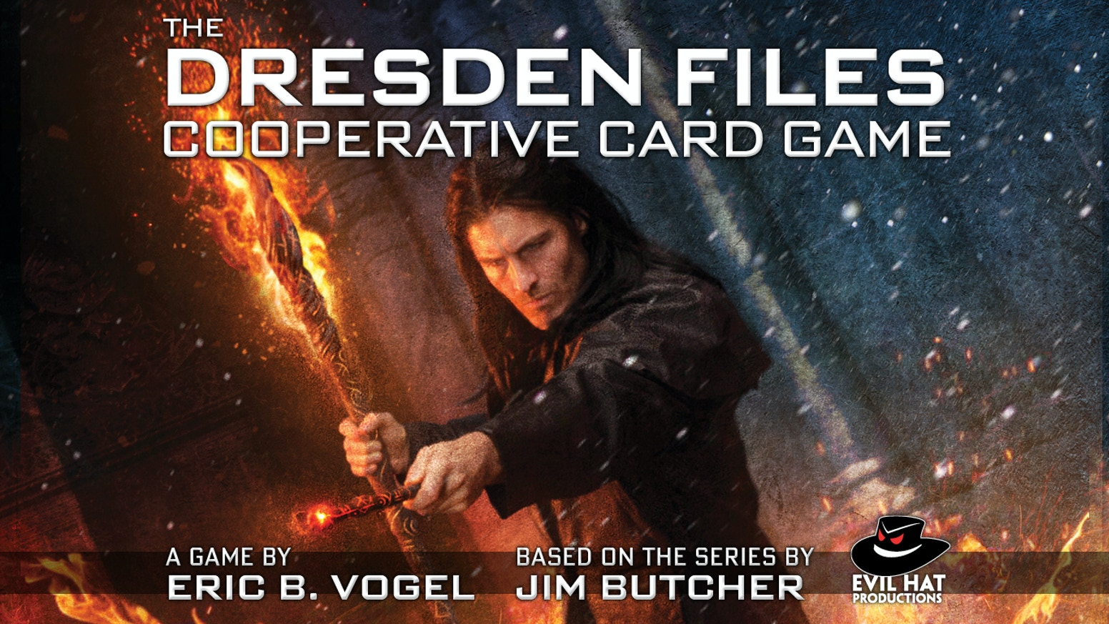 Play Harry Dresden & his friends in this tense, strategic co-op card game from Evil Hat, based on Jim Butcher's NYT bestselling novels!