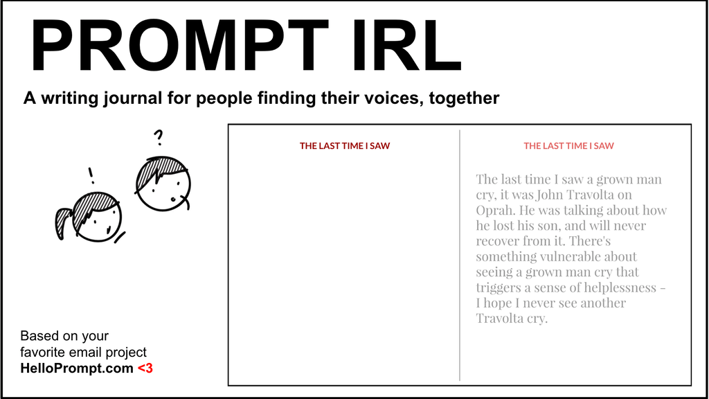 Prompt IRL: A Writing Journal + Anthology project video thumbnail