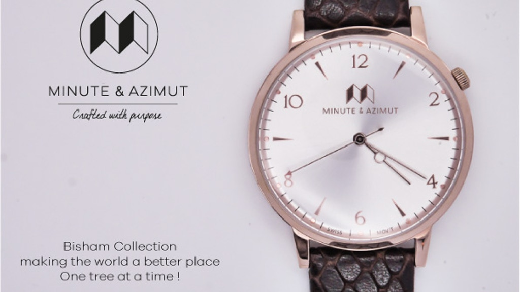 Minute & Azimut Watch: 1960's Design with Swiss Movement project video thumbnail