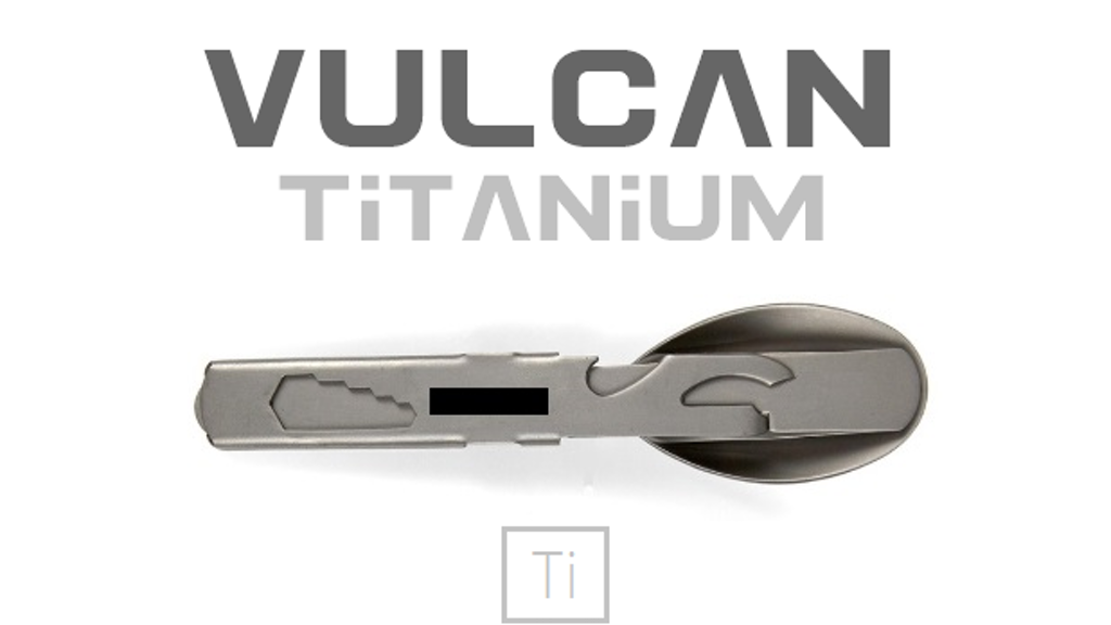 Project image for Vulcan - Titanium Compact Cutlery 18 in 1 Multi-tool