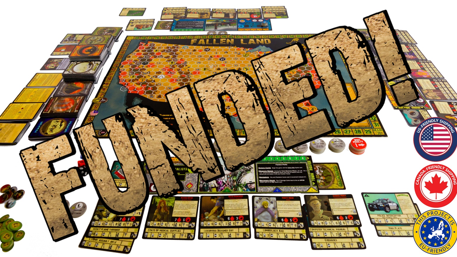 Playing tabletop games - A Thematic Board Game Set In Post Apocalyptic America It Features Sandbox Style Game