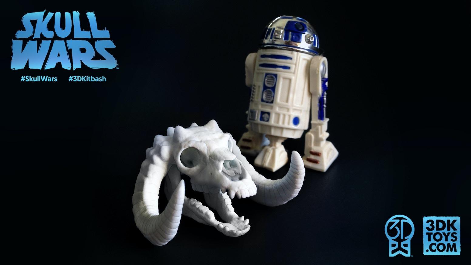 skull wars star wars parody skulls 3d printer levels too
