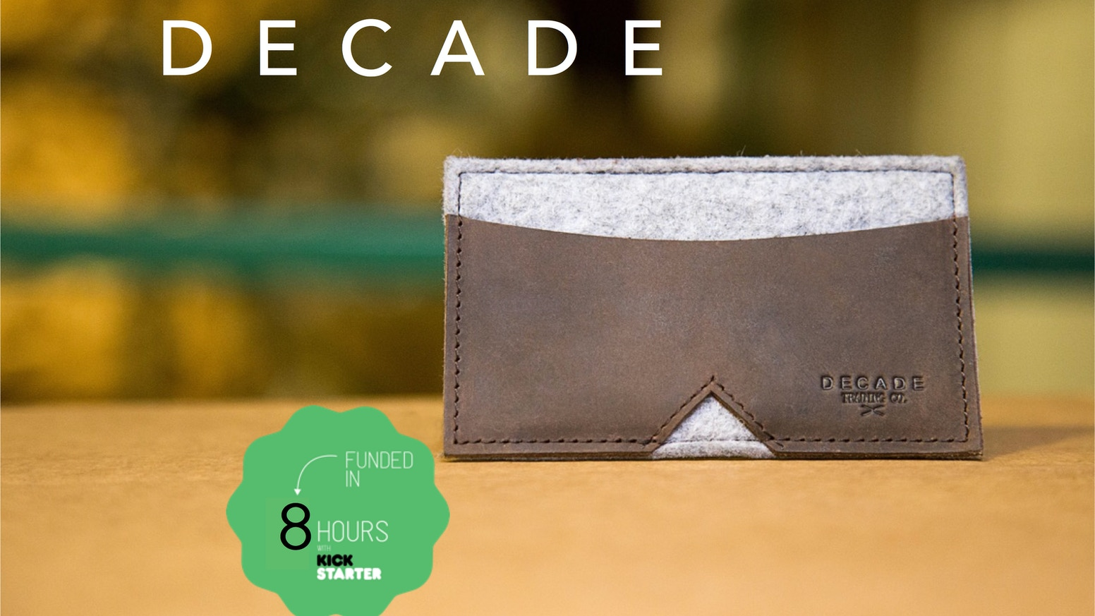 The Minimal Wallet By Decade | Genuine Hyde & Sylphlike Wool by