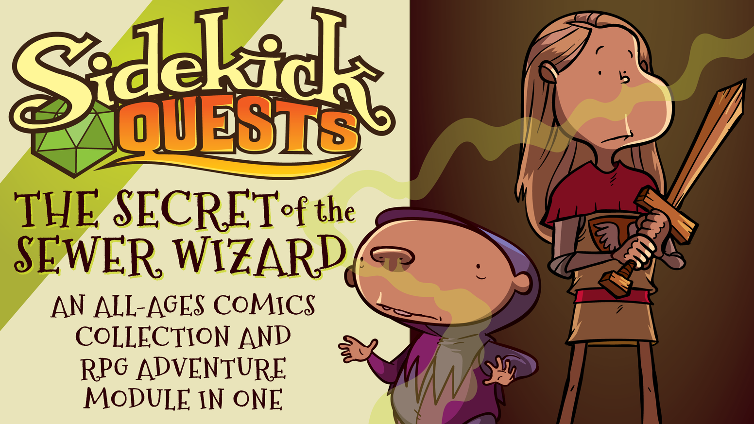 Animated Sidekick Connects Parents To >> Sidekick Quests Secret Of The Sewer Wizard By James Stowe Kickstarter