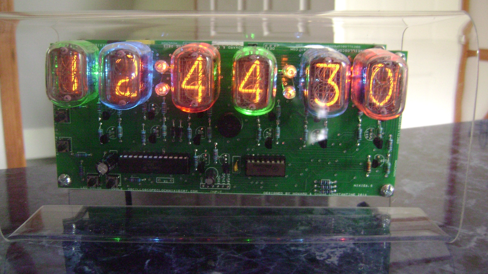 The Nixie Clock Iv Wall Table W In 12 Nixies Rgb Leds By Circuit
