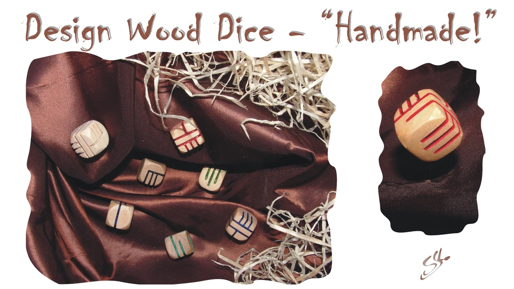 "Design Wood Dice - ""Handmade!"" project video thumbnail"