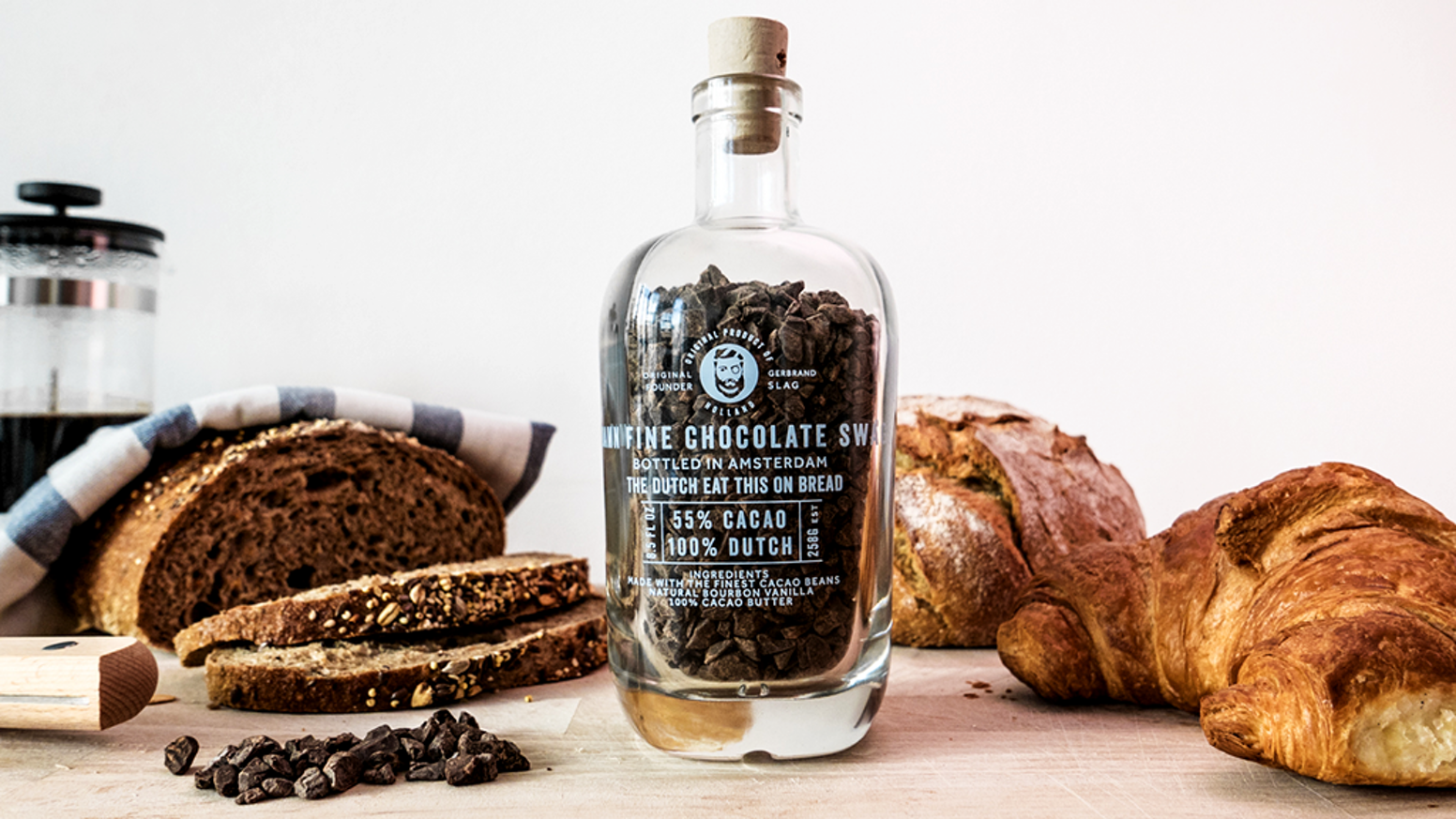 Hagelswag is the world's finest chocolate on bread, bottled in Amsterdam. A Dutch tradition, ready to be shared with the world.