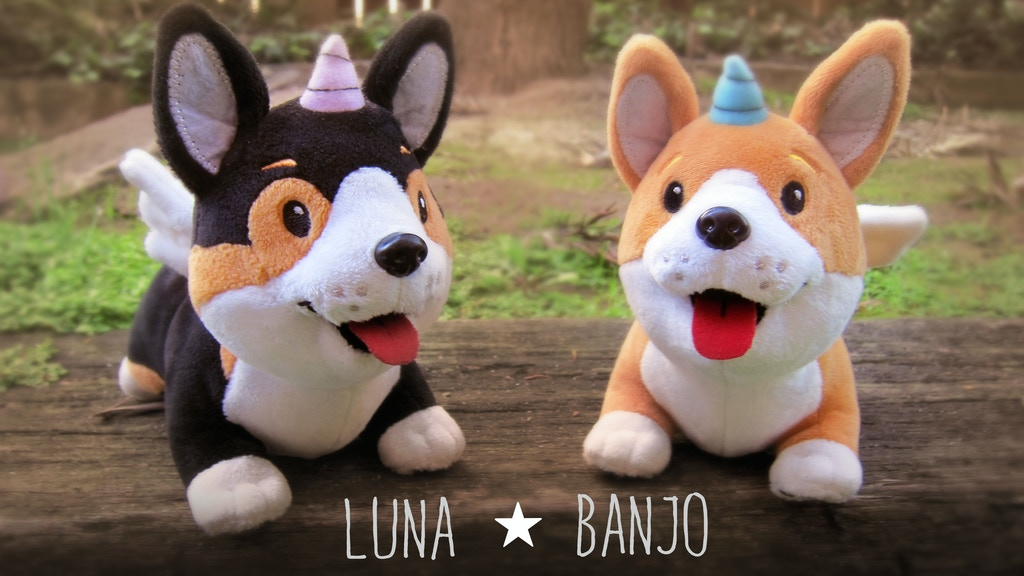 Banjo and Luna the Unicorgi plush by Squidbrains project video thumbnail