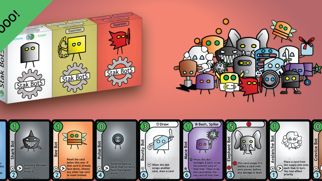 Stak Bots 'Red' - a sneakily strategic tabletop card game project video thumbnail
