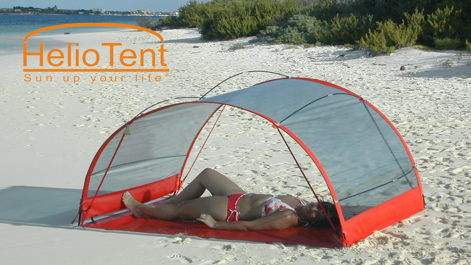HelioTent is the first and only product which filters out harmful sunrays while allowing the sun's healthy benefits shine through!