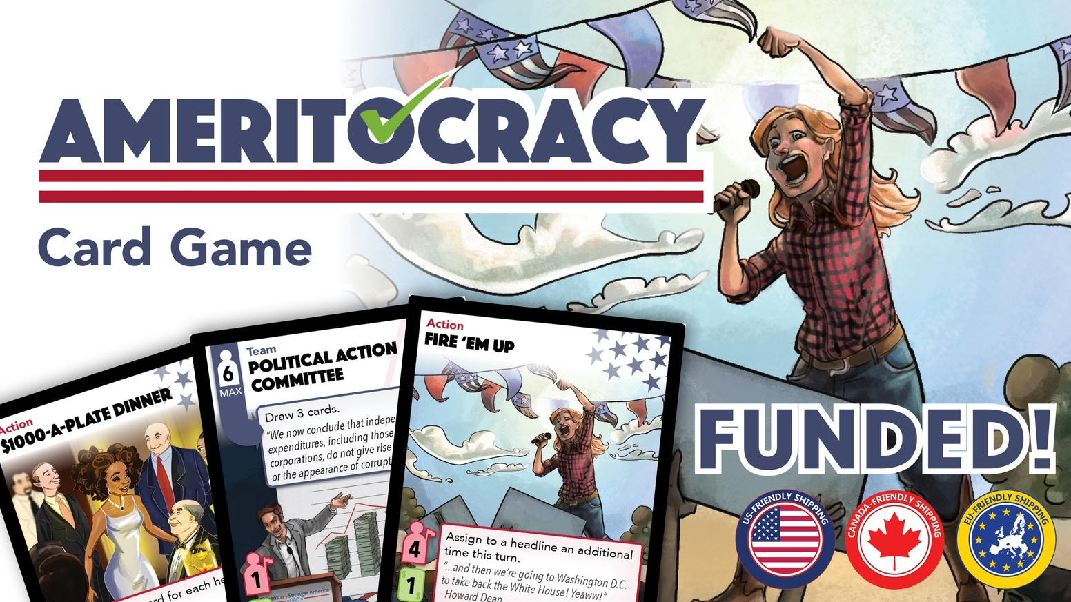 A strategic card game about making a run for the White House. How will you run your campaign?