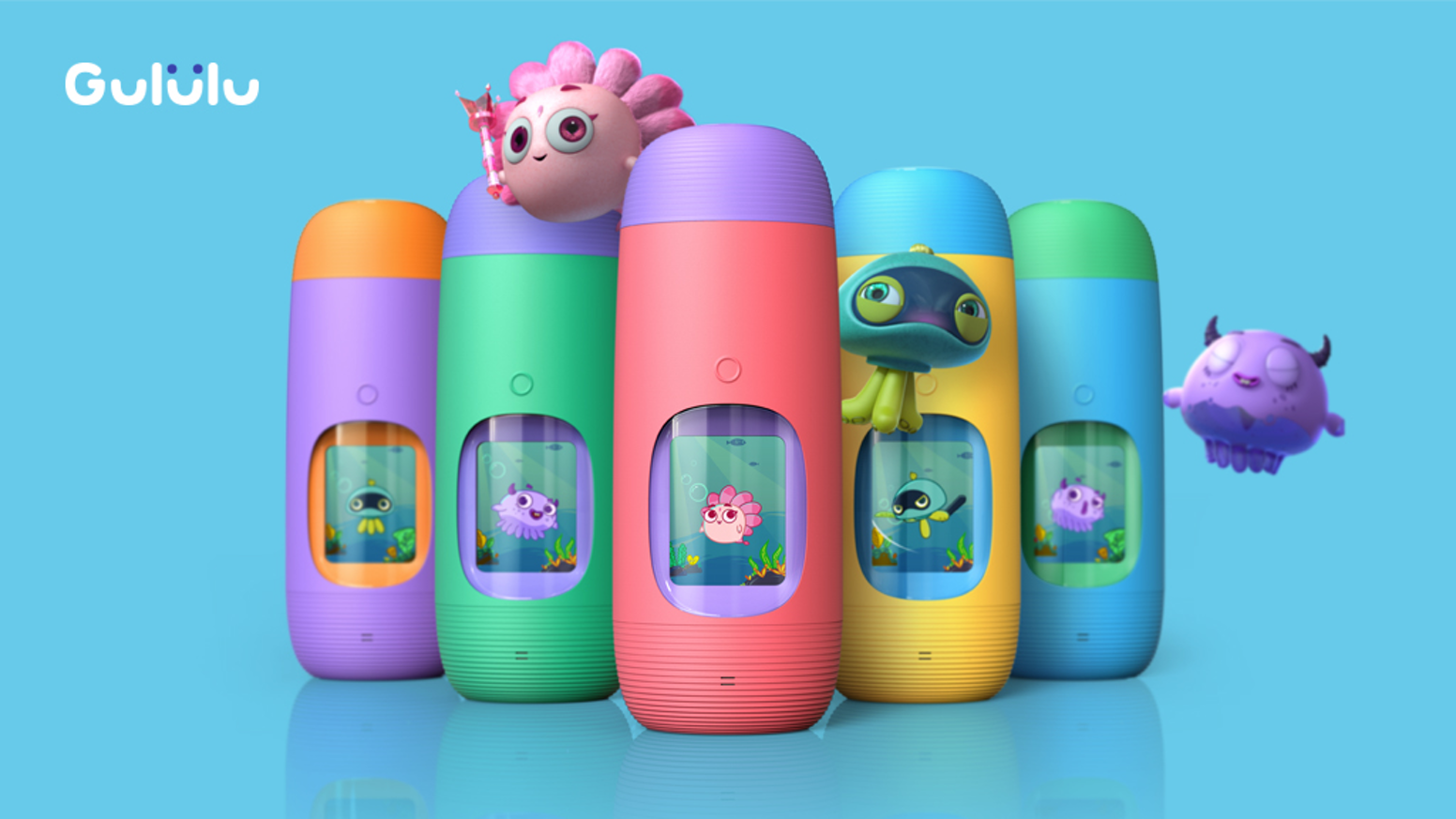 143da6f4c7 A sleek design bottle combined with a Tamagochi-like smart toy that keeps  kids hydrated
