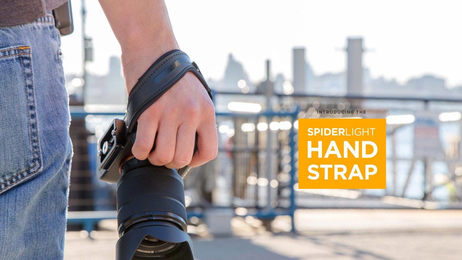 A groundbreaking new hand strap designed specifically for mirrorless and small DSLR cameras. Go anywhere, from trail, to street, to studio, with a secure and comfortable grip.