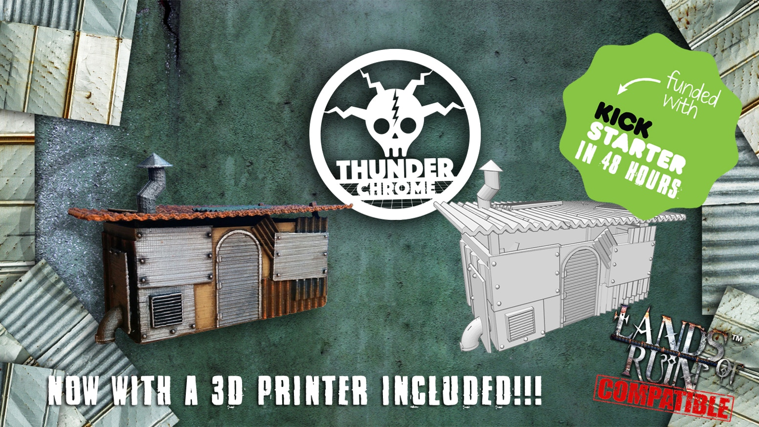 Thunder Chrome: 3d printable post apocalyptic scenery by