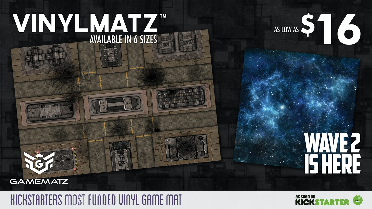 Vinyl game mats for miniature war gaming. Perfect For X-Wing, Warhammer, Flames of War, Attack-Wing, and tabletop miniatures games.