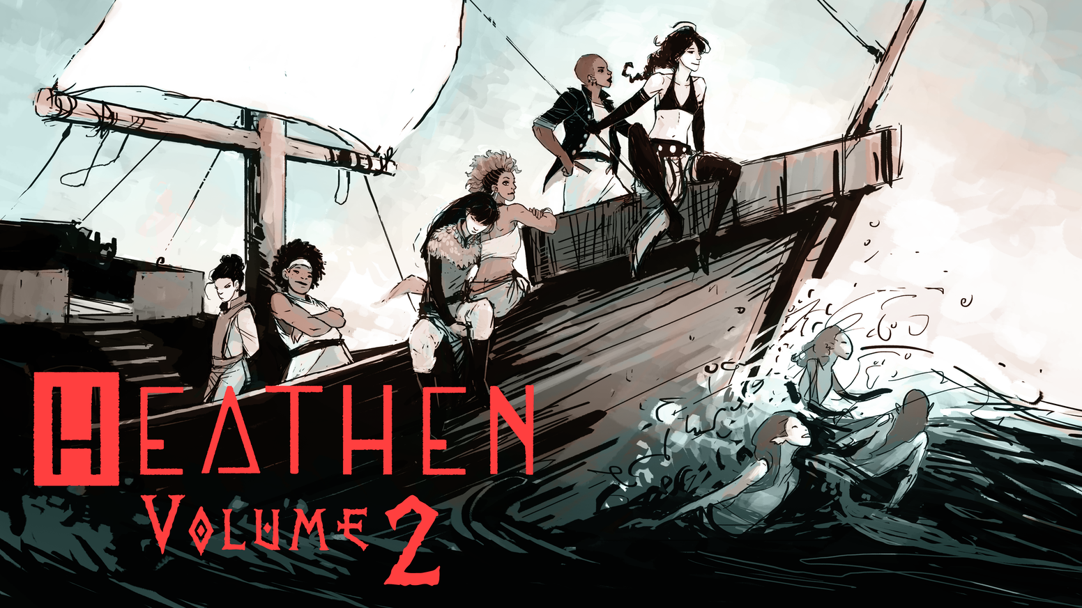 The second volume in the critically acclaimed feminist lesbian viking comic, Heathen. Let's make 4 more issues!