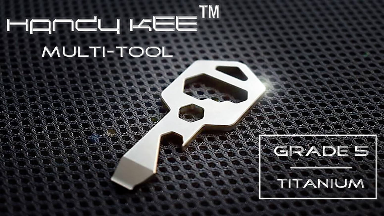 A perfect key shaped multi-tool with 18+ useful functions. It's made with Grade 5 Titanium. Durable, lightweight and extremely handy.