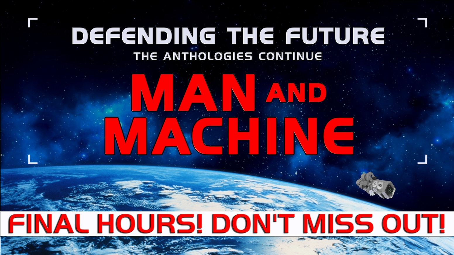 FINAL HOURS! Man & Machine from @eSpecbooks - 16 Bonus Rewards Unlocked & Counting! $1 Pledge Level! Chance to Win Physical Prize Pack!