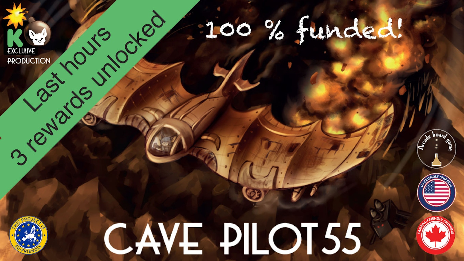 Tactical, highly replayable game, where 1-4 players race their high-tech bat-planes through a gauntlet cave