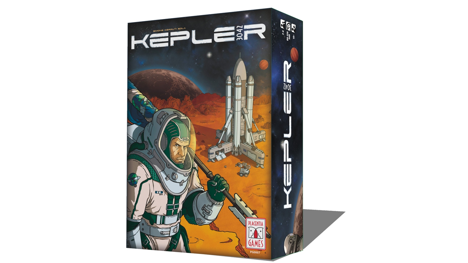 Manage limited resources with everchanging strategies in this game where space discovery and future meet real science for 1-4 players!