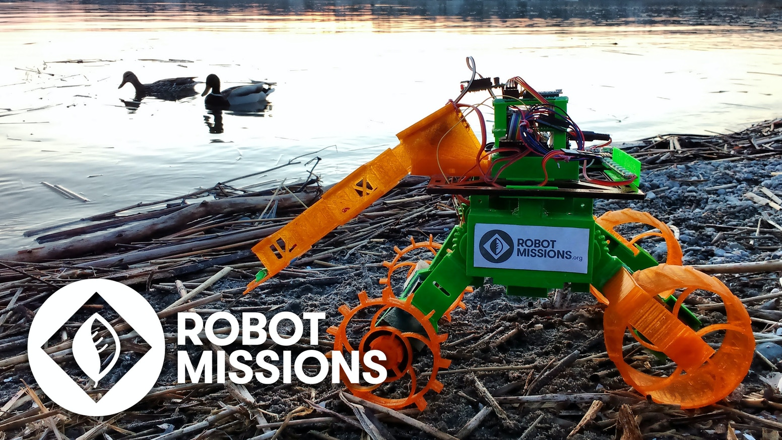Makers embarking on a mission to collect debris from shorelines using a robot — faster & reaching remote locations