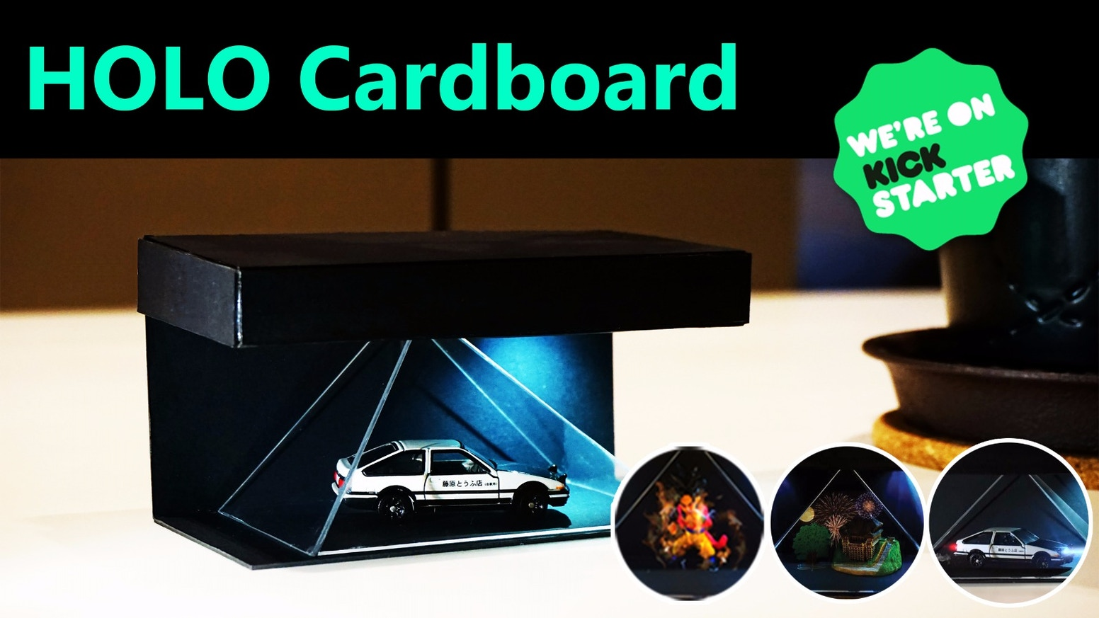 HOLO Cardboard - a mixed reality Hologram for your Anime Figures, Accessories, Furnishings and Playthings