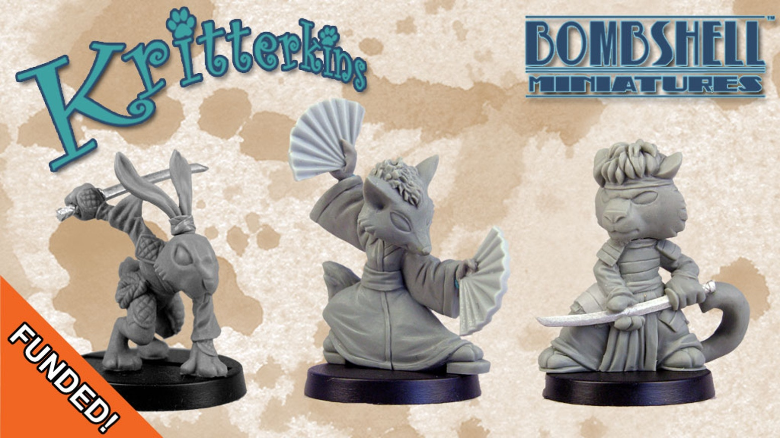 Fanciful critter miniatures for RPGs, tabletop games, or just for fun!