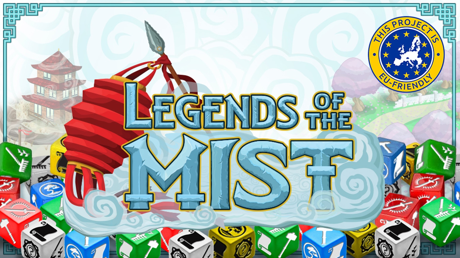 Enter the mists to settle a new empire. Using over 40 Custom Dice, roll them, secretly assign them to gain favor and become a LEGEND!