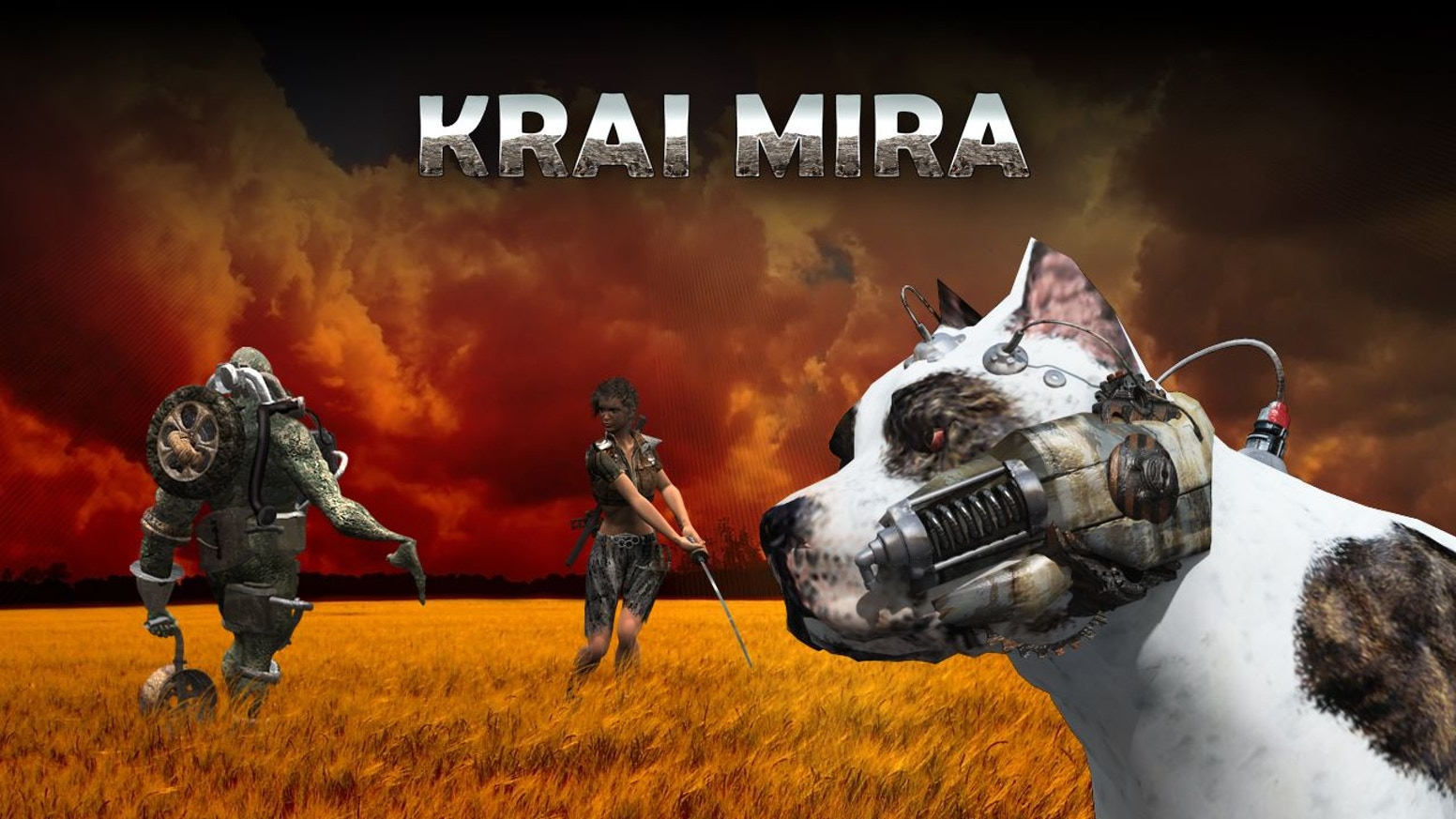 Krai Mira is a post-apocalyptic RPG that takes place on radioactive wastelands and swamps, dead settlements, caves and forests.