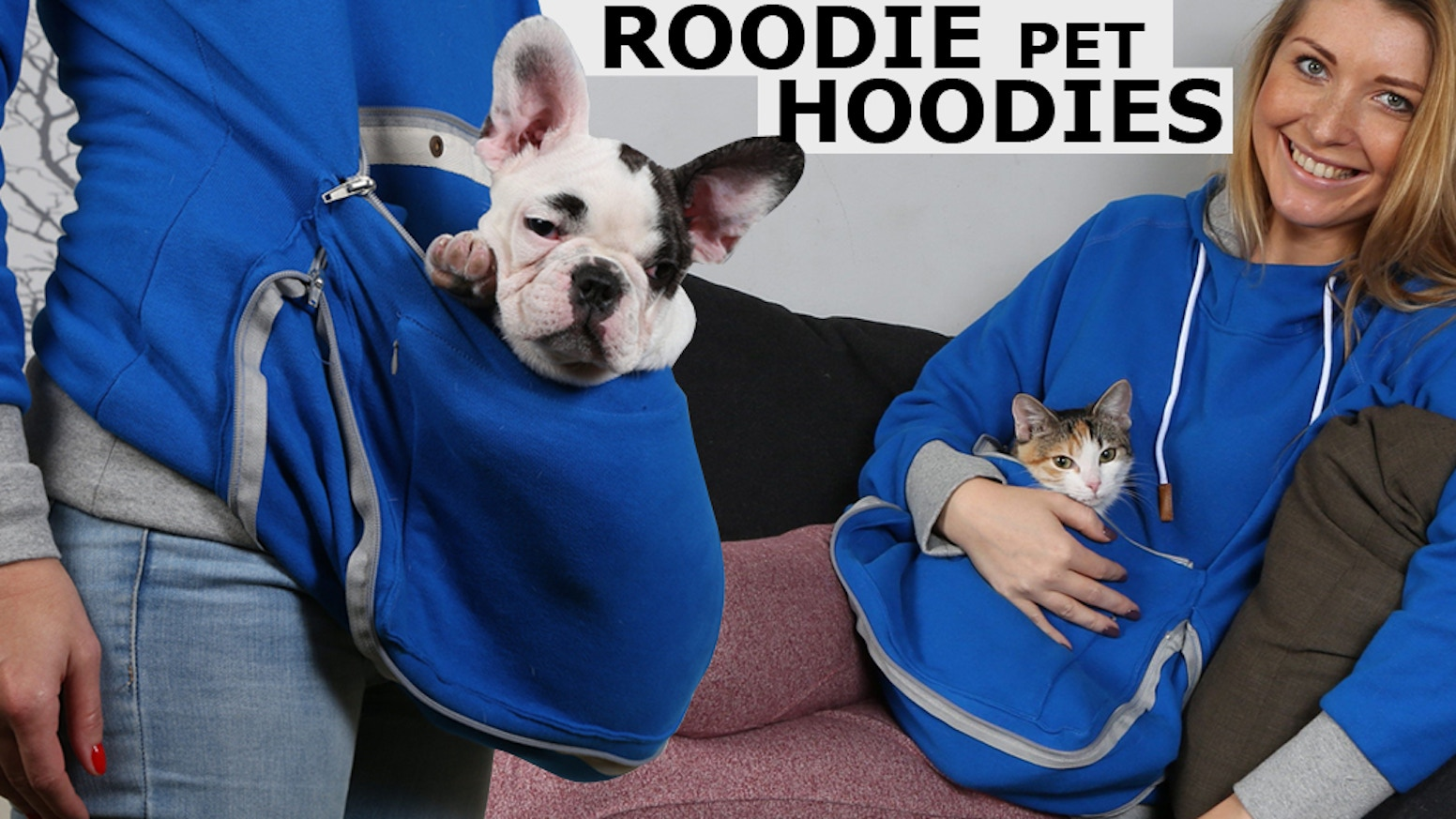 Roodie - Hoodies to Carry and Hang Out With Your Small Dog, Cat or Other Pet in Style.