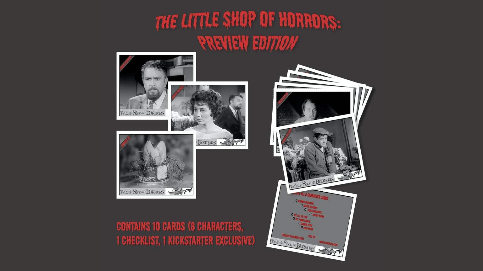 The Little Shop Of Horrors Trading Cards Preview Edition