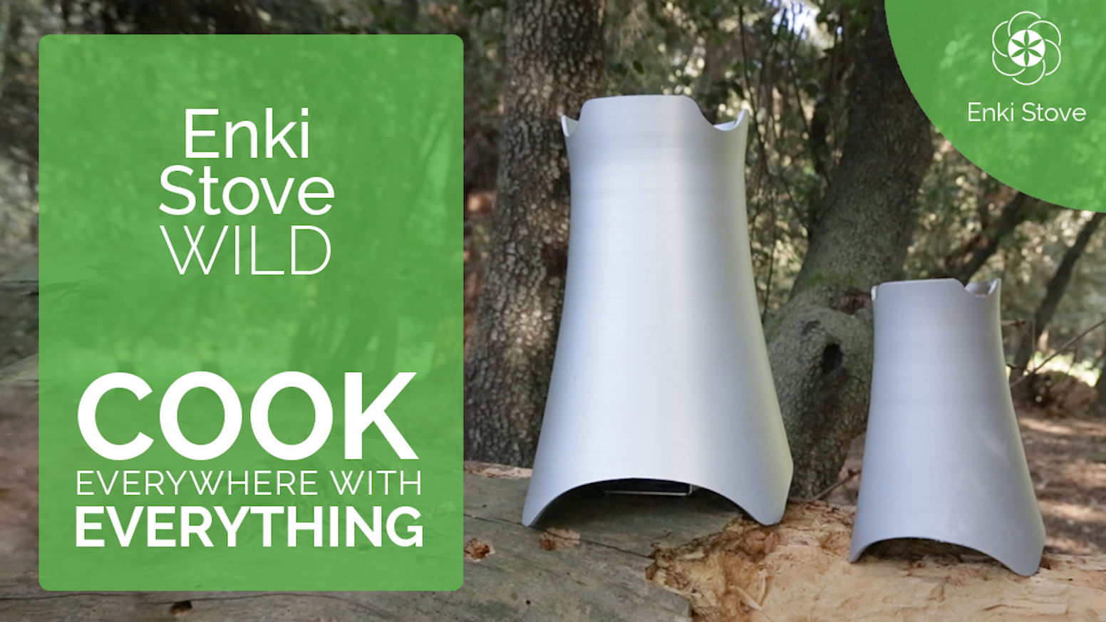 Enki Stove Wild is a revolutionary camp stove which can let you cook and grill as a pro using everything you can find in nature