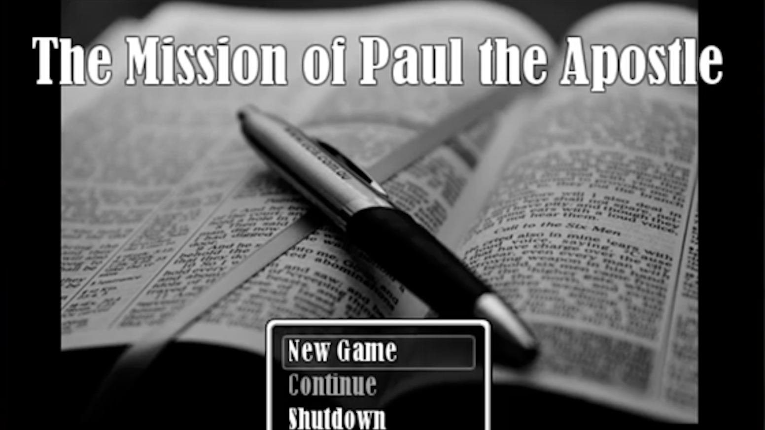 The Mission of Paul the Apostle: A Bible Video Game by Levi