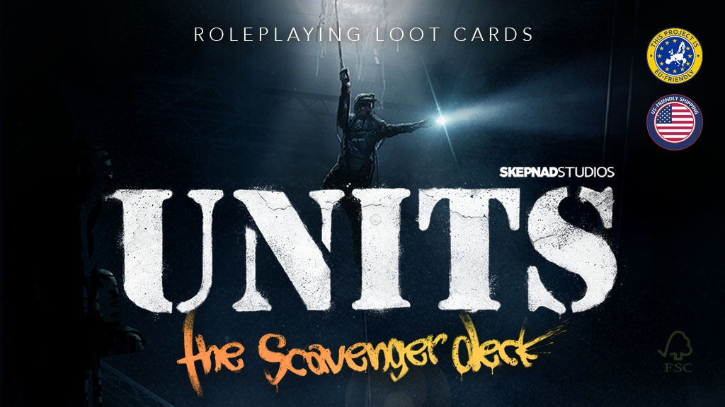 UNITS - The Scavenger Deck, illustrated rpg loot cards. project video thumbnail