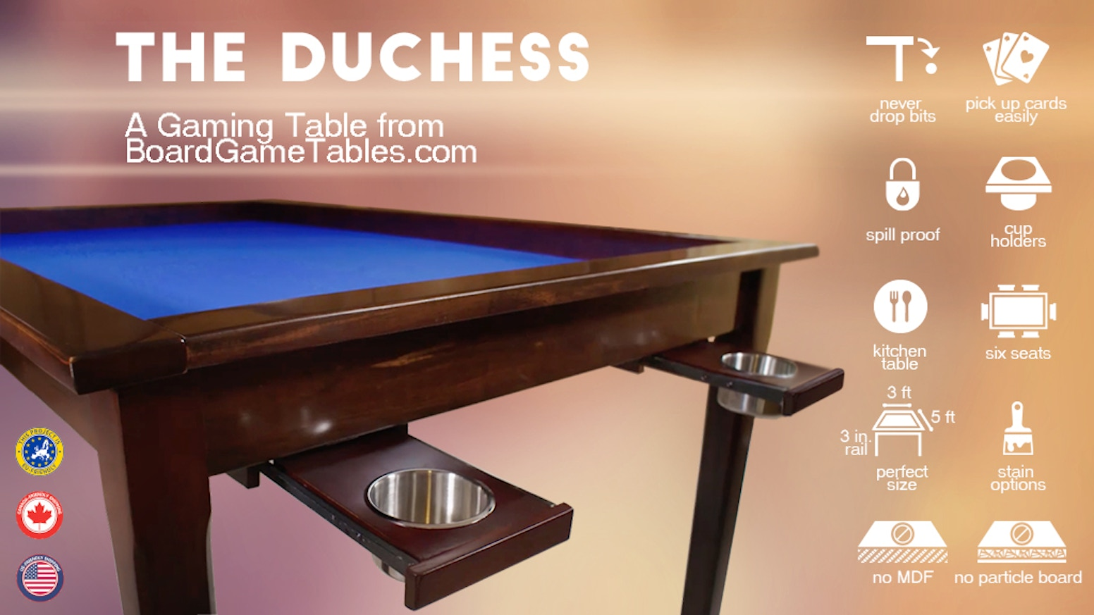 The Duchess A Gaming Table From Boardgametablescom By Chad Deshon