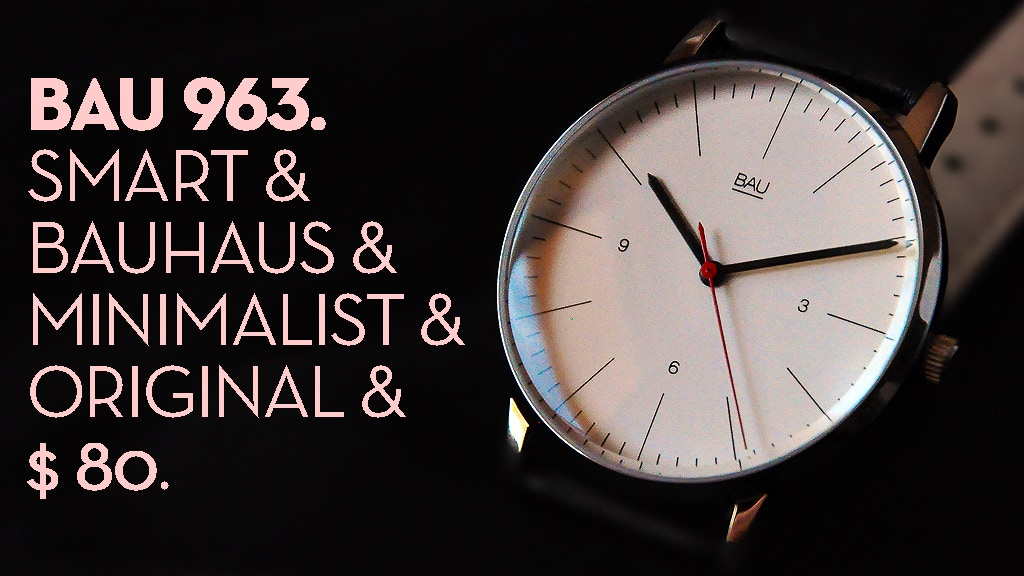 BAU Watches: Minimal Design for the New Generations. project video thumbnail